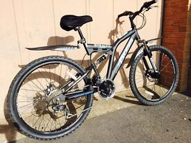Brand New mountain bike with Dual suspension and disc brakes