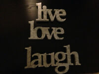 Live Love Laugh Hanging Signs
