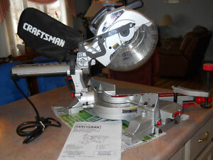 Sliding Compound  Miter Saw 10 in with Laser Trac Craftsman