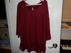 """Pennington's"", Size 3x, 3/4 Sleeve Long Top"