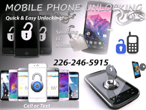 Phone Unlocking for Samsung's, LG's and iPhone.