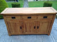 Solid rustic oak sideboard
