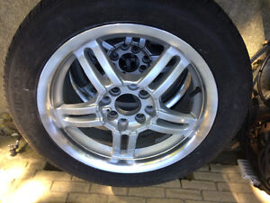Set of All Season Tires with Alloy Rims Kitchener / Waterloo Kitchener Area image 9