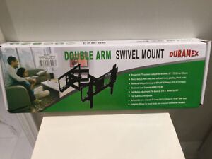 Double arm full motion swivel TV mount