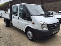 FORD TRANSIT T350 DOUBLE CAB TIPPER - FULL YEARS MOT - 50k MILES