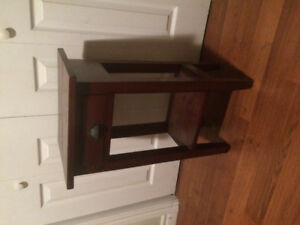 Dark wood accent table