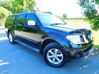 2008 Nissan Navara Double Cab Pick Up Outlaw 2.5dCi 169 4WD No VAT! FSH! Blue...