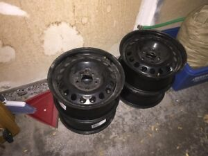 15 inch Steel Winter rims- only used one winter, great offer