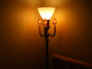Vintage 40-50's floor standing try lamp