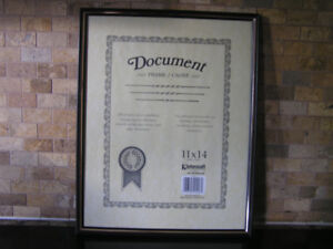 "New Unused Black Document Frame 11"" x 14"""