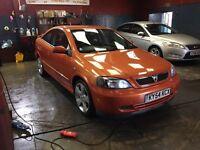 04 (54 plate) Vauxhall Astra coupe Bertone Limited Edition Orange 2.2 16v Petrol.