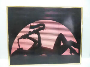 """WOMAN PLAYING THE SAXOPHONE"" FRAMED WALL PICTURE"