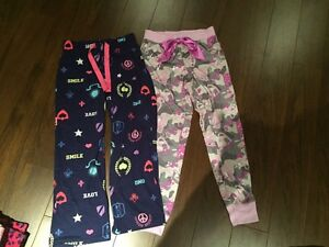 Justice and old navy sleep pants size 8-10