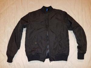 Men's H&M Black Padded Bomber Jacket - Small - BRAND NEW!!