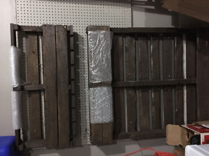 Rustic Skid Wine Rack and full stained skid shelf $15ea $25lot