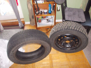 Set of 4 Bolt Snow Tires with Rims