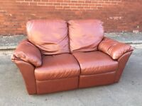 Quality Leather 2 Seater Double Recliner