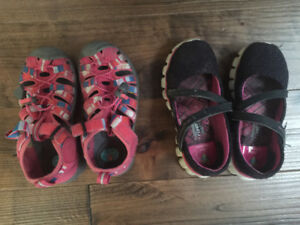 Keen sandals and Sketchers Mary Janes size 11