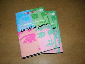 Livre Questions - Réponses sur La Ménopause (L31-32) - 4$