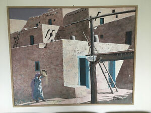 Picture, called adobe woman - Moving sale