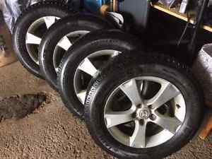 snow tires 225/65/17 with aluminum rims