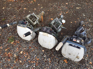 3 Johnson/Evinrude 9.5hp Outboards