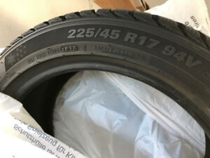 WINTER TIRES X 4 FOR SALE
