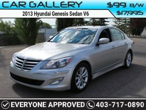 2013 Hyundai Genesis Sedan V6 w/Leather, Sunroof $99B/W YOU'RE A