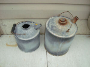 2 OLD GAS CANS