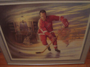 SIGNED JAMES LUMBERS MR HOCKEY GORDIE HOWE FRAMED PRINT