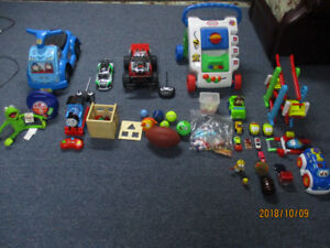 Lot of pre-owned toys ideal for children ages 2 to 5