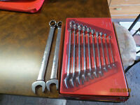 snap-on SAE flank drive 12 piece wrench set