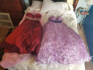 2 Grad Dresses For Sale