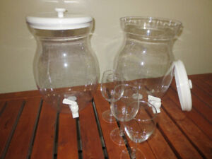 Beverage DIspensers and wine glasses