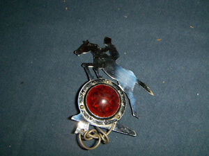VINTAGE ART DECO HORSEBACK RIDER BICYCLE LAMP-1950/60S-RARE!
