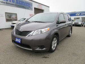 2012 Toyota Sienna LE-ONE OWNER,7 SEATERS,ALLOYS,WARRANTY,$13995