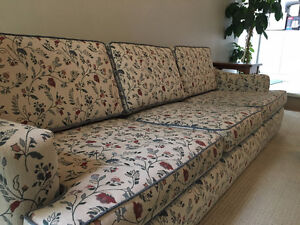 60's style couch, chair and ottoman