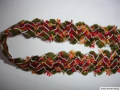 5m Wollborte 0,60€/m 2,5cm breit grün bunt DF116