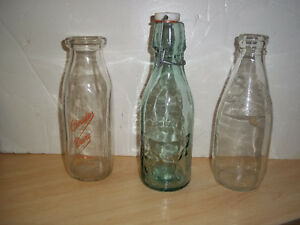 Milk Bottles -Christies Dairy,and 2 no name bottles as shown