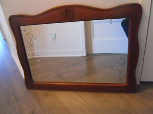 ANTIQUE WOOD MIRROR FOR SALE