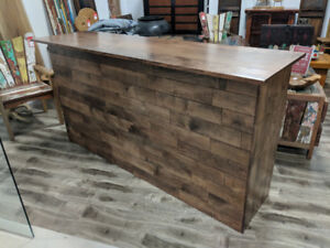 Bar Counter/Sales Desk with storage -  Solid wood