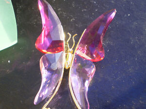 "Swarovski Crystal Paradise "" Astara Fushsia Butterfly Brooch "" Kitchener / Waterloo Kitchener Area image 8"