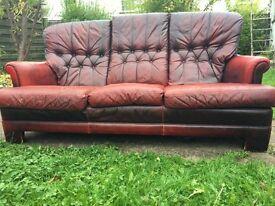Vintage, stylish red sofa