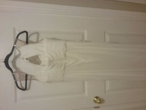 Cream colored prom dress worn once