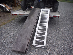 ATV motorcycle home made folding wooden loading ramps