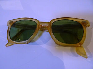 nerd 1950s-60s PARMELEE uk SAFETY GLASSES industrial STEAMPUNK
