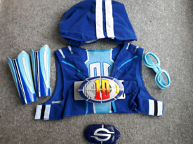 Lazy Town Sportacus 6 piece costume with music & Light