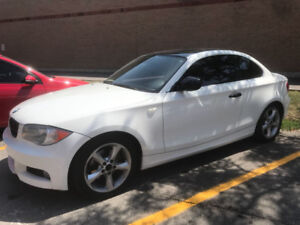 2011 BMW 128i White Automatic, 2 door, 130,000kms
