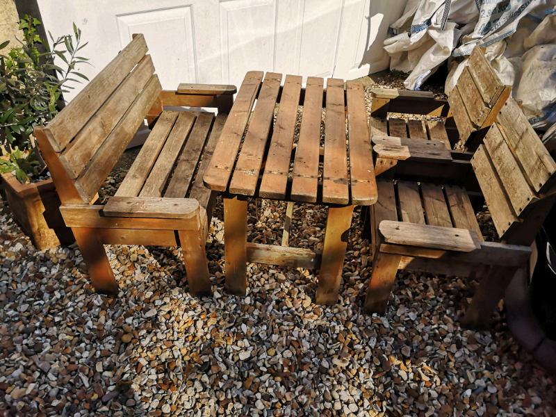 Outstanding Childrens Rustic Garden Furniture Set In Hythe Hampshire Gumtree Theyellowbook Wood Chair Design Ideas Theyellowbookinfo