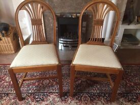 Pair of mahogany dining chairs